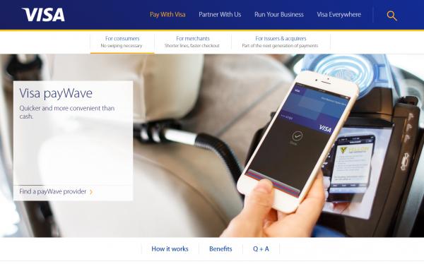 Visa Pay-Waveは電子マネー機能とクレジット機能が一体になったサービス