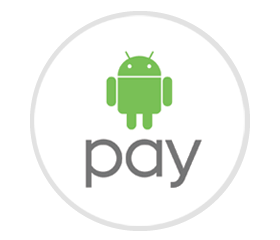 Android Pay が使えるお店を表すロゴ