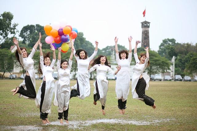 中国人女性のグループ